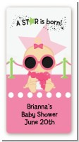 A Star Is Born Hollywood White|Pink - Custom Rectangle Baby Shower Sticker/Labels
