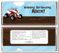 ATV 4 Wheeler Quad - Personalized Birthday Party Candy Bar Wrappers