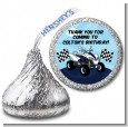ATV 4 Wheeler Quad - Hershey Kiss Birthday Party Sticker Labels thumbnail