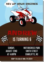 ATV 4 Wheeler Quad - Birthday Party Invitations
