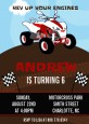 ATV 4 Wheeler Quad - Birthday Party Invitations thumbnail