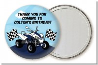 ATV 4 Wheeler Quad - Personalized Birthday Party Pocket Mirror Favors