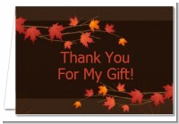 Autumn Leaves - Bridal Shower Thank You Cards
