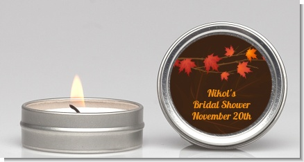 Autumn Leaves - Bridal Shower Candle Favors