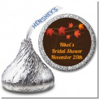 Autumn Leaves - Hershey Kiss Bridal Shower Sticker Labels