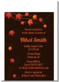 Autumn Leaves - Bridal Shower Petite Invitations