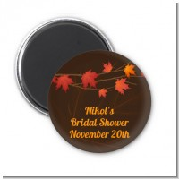 Autumn Leaves - Personalized Bridal Shower Magnet Favors