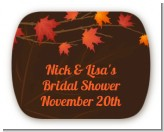 Autumn Leaves - Personalized Bridal Shower Rounded Corner Stickers