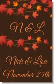 Autumn Leaves - Personalized Bridal Shower Wall Art