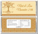 Autumn Tree - Personalized Bridal Shower Candy Bar Wrappers