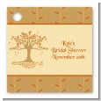 Autumn Tree - Personalized Bridal Shower Card Stock Favor Tags thumbnail
