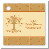 Autumn Tree - Personalized Bridal Shower Card Stock Favor Tags