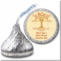 Autumn Tree - Hershey Kiss Bridal Shower Sticker Labels