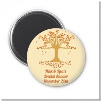 Autumn Tree - Personalized Bridal Shower Magnet Favors