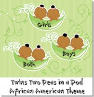 Twins Two Peas in a Pod African American