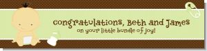 Baby Neutral Asian - Personalized Baby Shower Banners