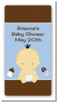 Baby Boy Asian - Custom Rectangle Baby Shower Sticker/Labels