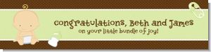 Baby Neutral Caucasian - Personalized Baby Shower Banners