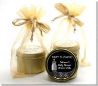 Baby Bling - Baby Shower Gold Tin Candle Favors