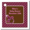 Baby Bling Pink - Personalized Baby Shower Card Stock Favor Tags thumbnail