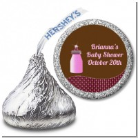 Baby Bling Pink - Hershey Kiss Baby Shower Sticker Labels