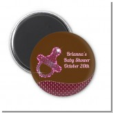 Baby Bling Pink Pacifier - Personalized Baby Shower Magnet Favors