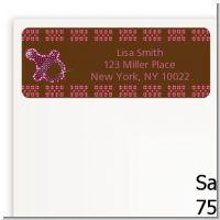 Baby Bling Pink - Baby Shower Return Address Labels