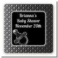 Baby Bling - Square Personalized Baby Shower Sticker Labels thumbnail