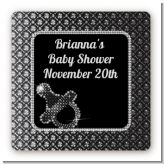 Baby Bling - Square Personalized Baby Shower Sticker Labels