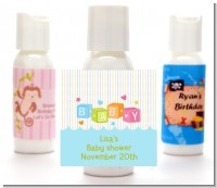 Baby Blocks Blue - Personalized Baby Shower Lotion Favors