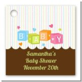 Baby Blocks - Personalized Baby Shower Card Stock Favor Tags