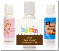 Baby Blocks - Personalized Baby Shower Lotion Favors