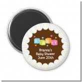 Baby Blocks - Personalized Baby Shower Magnet Favors