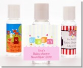 Baby Blocks Pink - Personalized Baby Shower Hand Sanitizers Favors