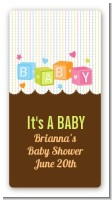 Baby Blocks - Custom Rectangle Baby Shower Sticker/Labels