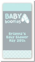 Booties Blue - Custom Rectangle Baby Shower Sticker/Labels
