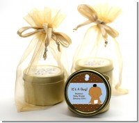 Baby Boy African American - Baby Shower Gold Tin Candle Favors