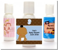 Baby Boy African American - Personalized Baby Shower Lotion Favors