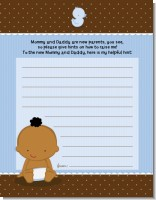 Baby Boy African American - Baby Shower Notes of Advice