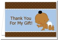 Baby Boy African American - Baby Shower Thank You Cards