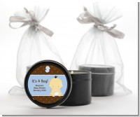 Baby Boy Asian - Baby Shower Black Candle Tin Favors