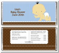 Baby Boy Asian - Personalized Baby Shower Candy Bar Wrappers