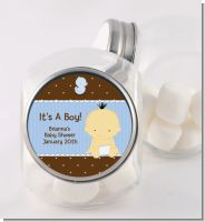 Baby Boy Asian - Personalized Baby Shower Candy Jar