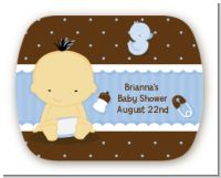Baby Boy Asian - Personalized Baby Shower Rounded Corner Stickers