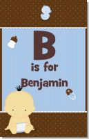 Baby Boy Asian - Personalized Baby Shower Nursery Wall Art