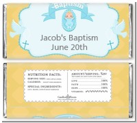 Baby Boy - Personalized Baptism / Christening Candy Bar Wrappers