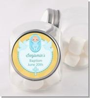 Baby Boy - Personalized Baptism / Christening Candy Jar