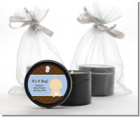 Baby Boy Caucasian - Baby Shower Black Candle Tin Favors