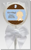 Baby Boy Caucasian - Personalized Baby Shower Lollipop Favors