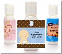 Baby Boy Caucasian - Personalized Baby Shower Lotion Favors